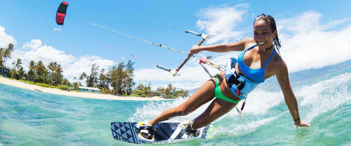 Water Sports are the major visitor attraction on Maui.