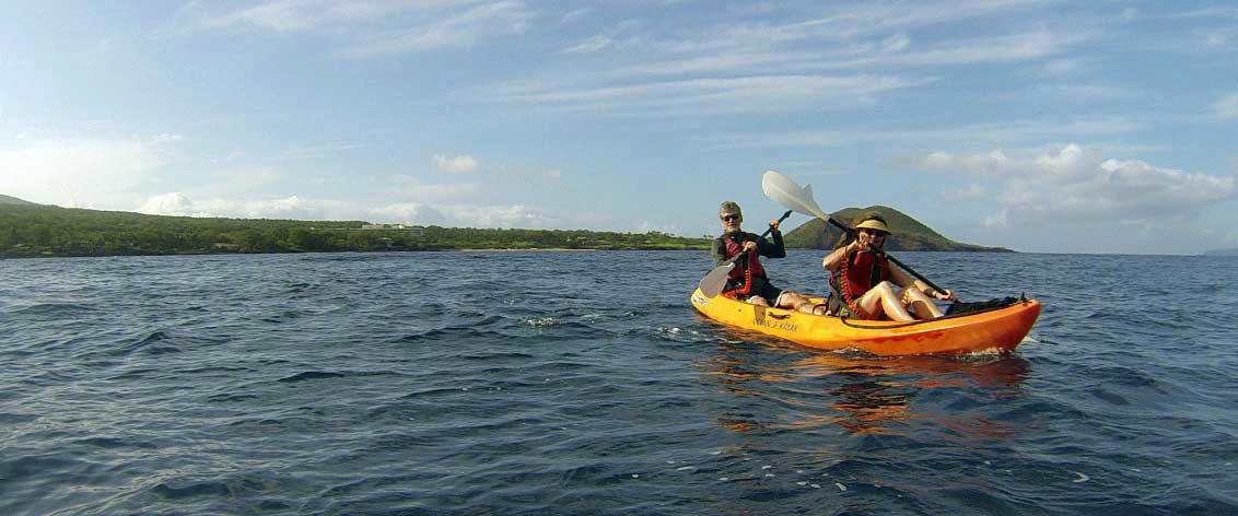 Maui Kayak Adventures offer a pristine ocean experience.