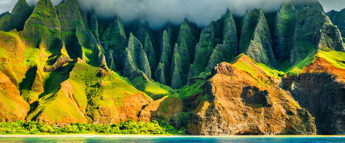 Many consider the Napali Coast Tours the most beautiful in all of Hawaii.