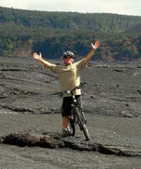 Kilauea Volcano Bike and Lava - Kona