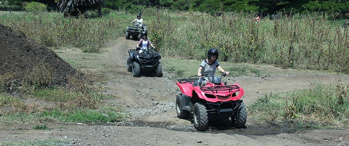 You can enjoy your ATV Oahu tour on a popular movie set at Kualoa Ranch