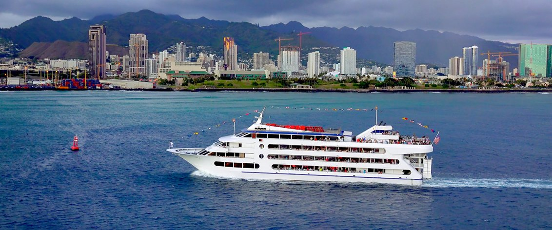 For fun and relaxation, try a Sunset Dinner Cruise on Oahu.