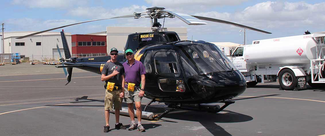 The best way to see Hawaii is with a helicopter ride.