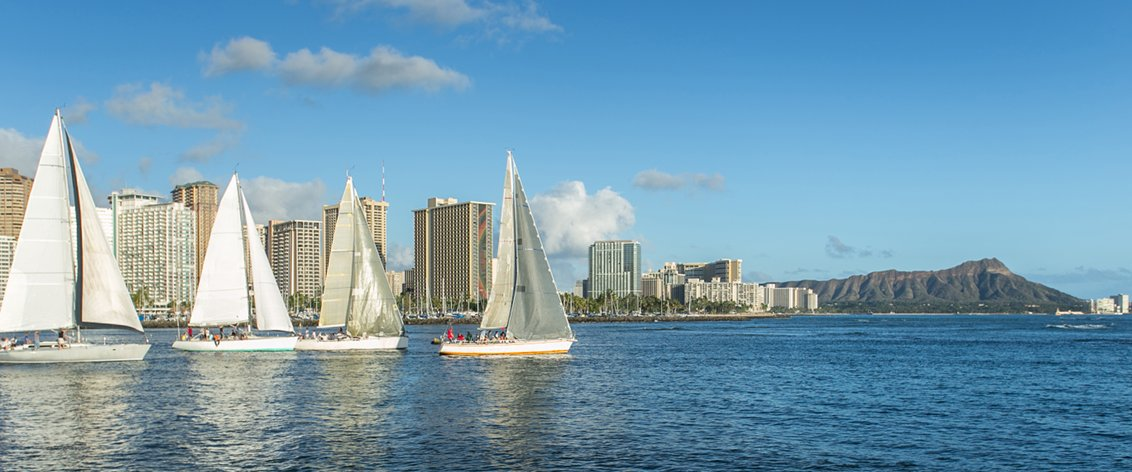 Oahu offers an abundance of sailing charters.