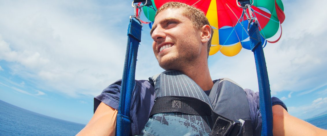Maui parasailing is great for a short burst of adrenaline.