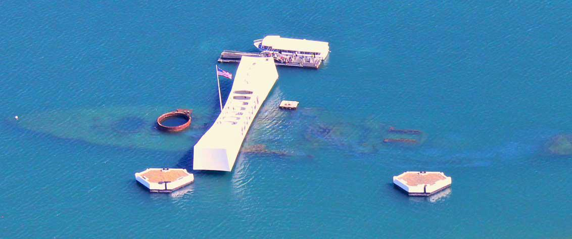 Reserve a tour of the Pearl Harbor Memorial from the Big Island.