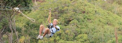 Travel Blog #095 - Zip Lines at the Princeville Ranch (By Jake)