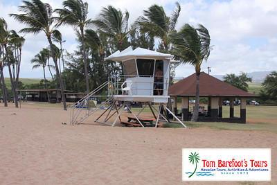 There are lifeguard towers at Salt Pond Beach Park