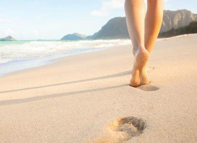 Walking on the Sand for health