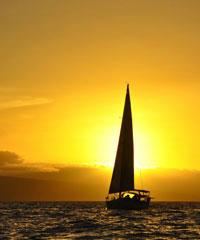 Kainani 43' Private Sunset Sail 3 Hour