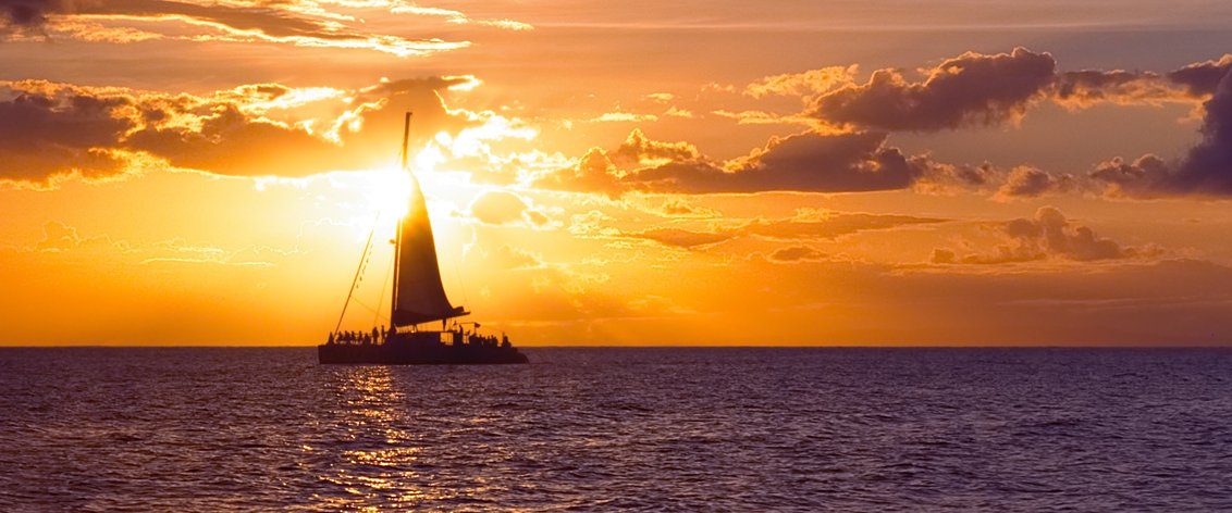 Maui Sunset Sails are beautiful and fun.