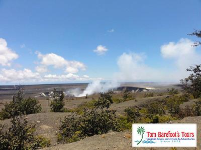 riding bikes at the volcano on the big island