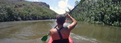 "Travel Blog #085 - Paddling to ""Secret Falls"" with Wailua River Guides (By Jake)"