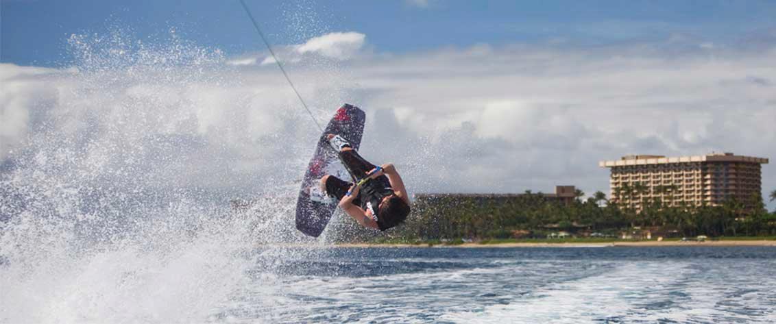 Hire your own private Maui wakeboarding boat.